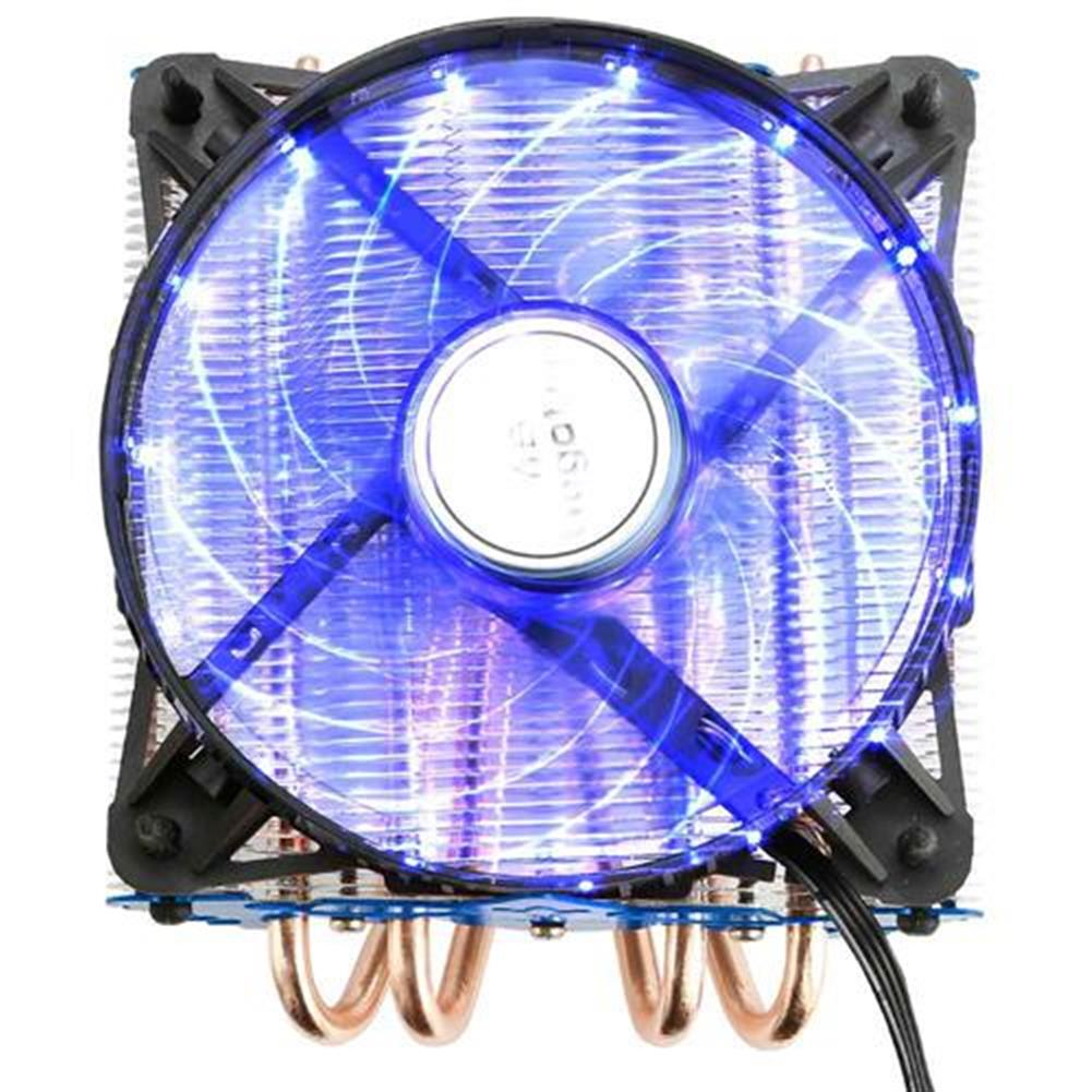 fan-cooling-Segotep T4 CPU Cooling Fan Temperature Controller Colorful LED Light Version Durable Low Noise Horizontal Compression CPU Cooler - Blue-Segotep T4 CPU Cooling Fan Temperature Controller Colorful LED Light Version Durable Low Noise Horizontal Compression CPU Cooler Blue