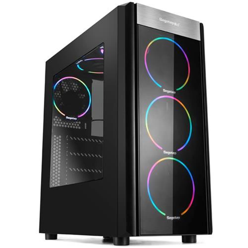 -Best Seller-Segotep Wider X3 Computer Case Mainframe 360mm Cooling Fan Computer Box Black 1