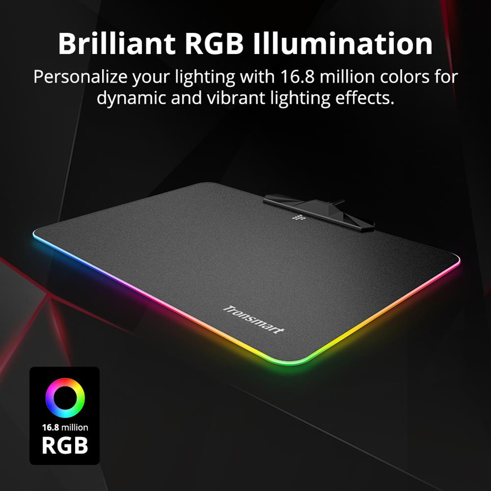 mouse-pads Tronsmart Shine X RGB Gaming Mouse Pad USB Mat with 16.8 Million Colors Non-slip Base Optimized for Gaming Sensors Tronsmart Shine X RGB Gaming Mouse Pad USB Mat with 16 8 Million Colors Non slip Base Optimized for Gaming Sensors 2