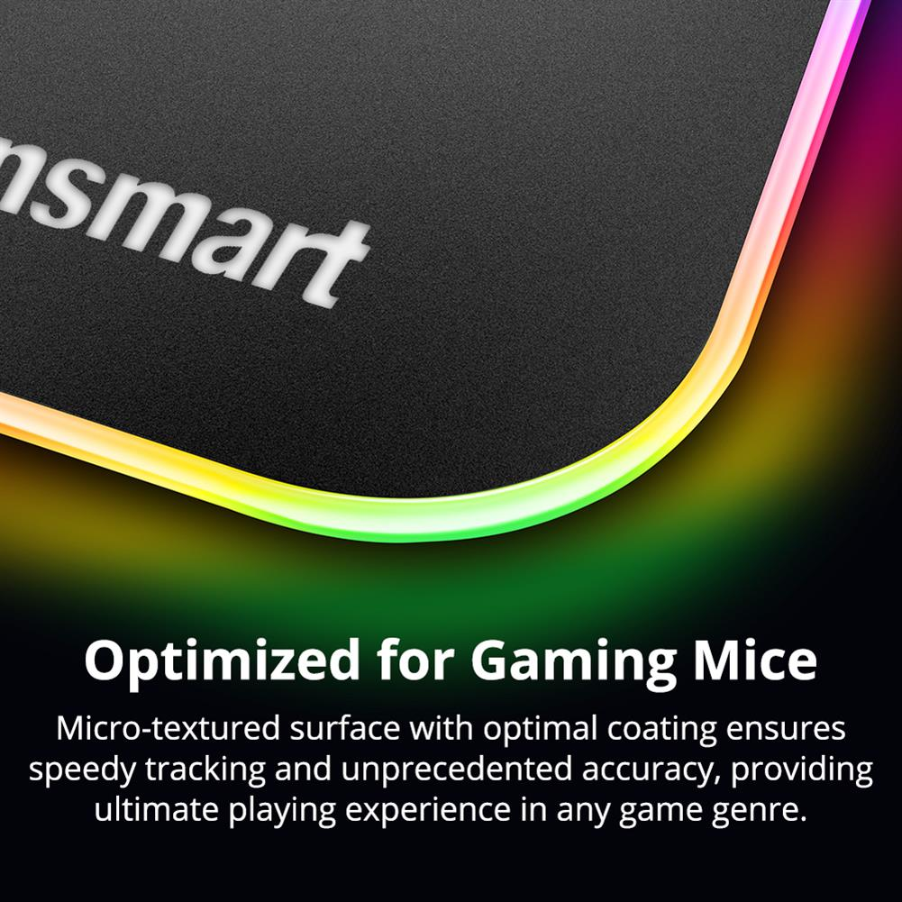 mouse-pads Tronsmart Shine X RGB Gaming Mouse Pad USB Mat with 16.8 Million Colors Non-slip Base Optimized for Gaming Sensors Tronsmart Shine X RGB Gaming Mouse Pad USB Mat with 16 8 Million Colors Non slip Base Optimized for Gaming Sensors 3