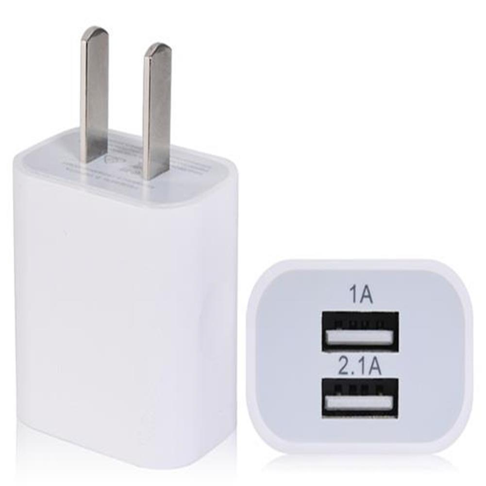 adapters-US Plug 0.3A 2.1A Dual USB Port Charger - White-US Plug 0 3A 2 1A Dual USB Port Charger White