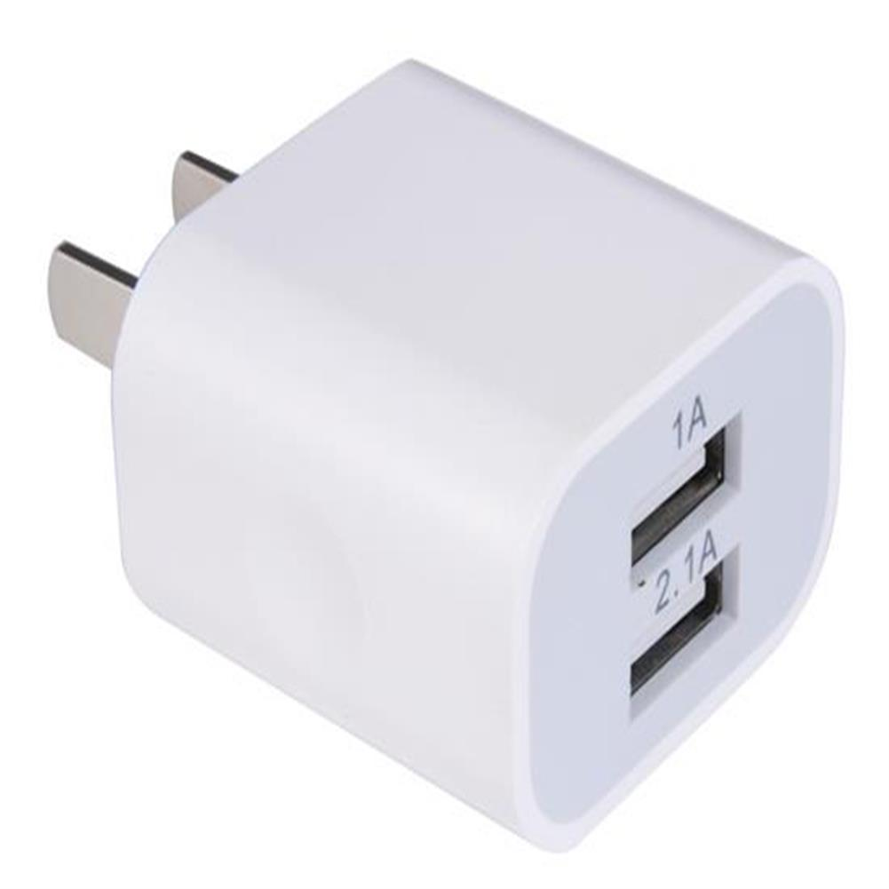 adapters US Plug 0.3A 2.1A Dual USB Port Charger - White US Plug 0 3A 2 1A Dual USB Port Charger White 1