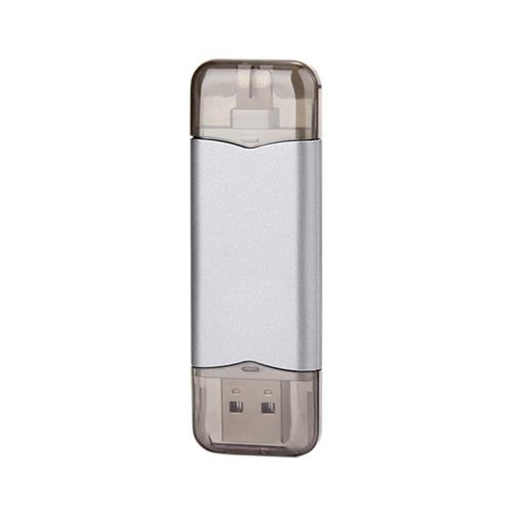 usb-flash-drives Xcomm XU-209 32GB Phone U Disk with 8pin Compatible Interface for iPhone 6S/6S Plus/6/6P/5S/SE - Silver Xcomm XU 209 32GB Phone U Disk with 8pin Compatible Interface for iPhone 6S 6S Plus 6 6P 5S SE Silver 1