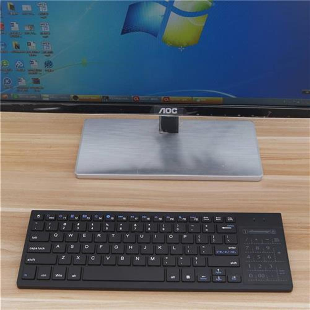wireless-keyboards iPazzPort KP35H Wireless Keyboard Three-color Backlight 2.4G Rechargeable Lithium Battery - Black iPazzPort KP35H Wireless Keyboard Three color Backlight 2 4G Rechargeable Lithium Battery Black 8