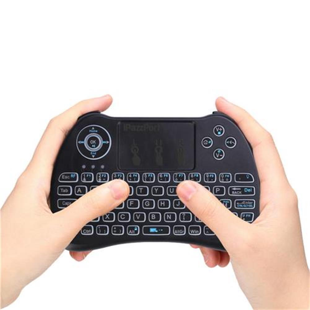 wireless-keyboards-iPazzport KP-810-21Q Mini 2.4G Wireless Keyboard with Touchpad 3-color Backlight - French version Black-iPazzport KP 810 21Q Mini 2 4G Wireless Keyboard with Touchpad 3 color Backlight French version Black 6