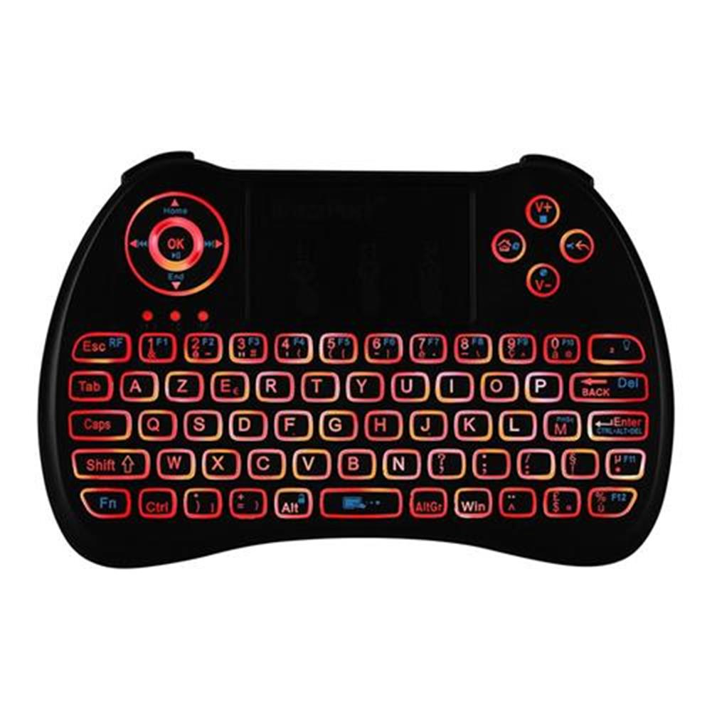 wireless-keyboards-iPazzport KP-810-21Q Mini 2.4G Wireless Keyboard with Touchpad 3-color Backlight - French version Black-iPazzport KP 810 21Q Mini 2 4G Wireless Keyboard with Touchpad 3 color Backlight French version Black 7