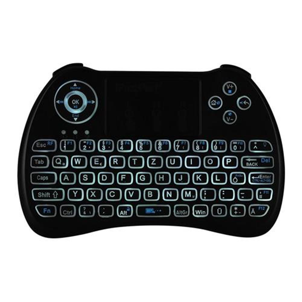 wireless-keyboards iPazzport KP-810-21Q Mini 2.4G Wireless Keyboard with Touchpad 3-color Backlight - German Version Black iPazzport KP 810 21Q Mini 2 4G Wireless Keyboard with Touchpad 3 color Backlight German Version Black 6