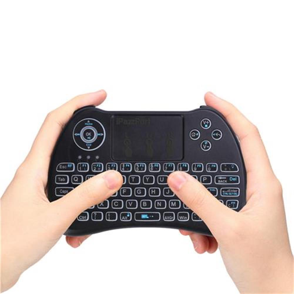 wireless-keyboards iPazzport KP-810-21Q Mini 2.4G Wireless Keyboard with Touchpad 3-color Backlight - Spanish version Black iPazzport KP 810 21Q Mini 2 4G Wireless Keyboard with Touchpad 3 color Backlight Spanish version Black 5