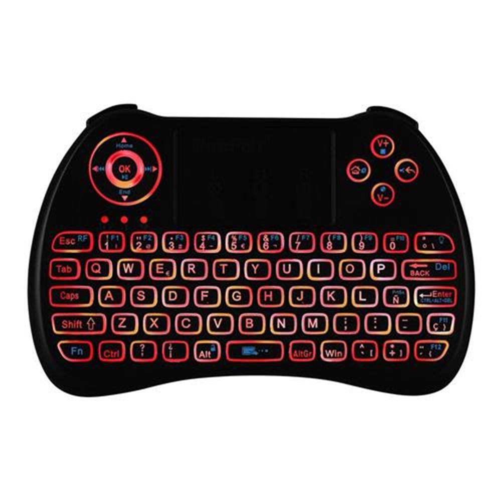 wireless-keyboards iPazzport KP-810-21Q Mini 2.4G Wireless Keyboard with Touchpad 3-color Backlight - Spanish version Black iPazzport KP 810 21Q Mini 2 4G Wireless Keyboard with Touchpad 3 color Backlight Spanish version Black 6