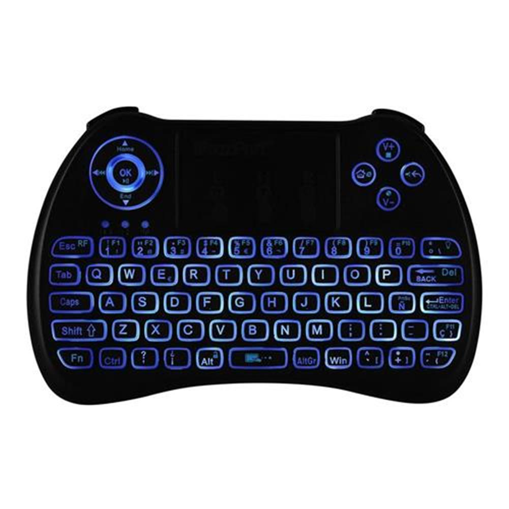 wireless-keyboards iPazzport KP-810-21Q Mini 2.4G Wireless Keyboard with Touchpad 3-color Backlight - Spanish version Black iPazzport KP 810 21Q Mini 2 4G Wireless Keyboard with Touchpad 3 color Backlight Spanish version Black 7
