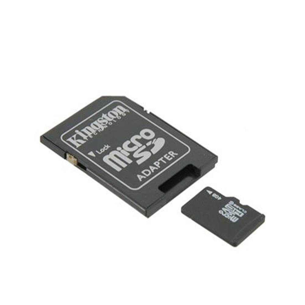 sd-card 4GB Class 4 Micro SD TF Memory Card With Micro SD Adapter - Black 4GB Class 4 Micro SD TF Memory Card With Micro SD Adapter Black 1