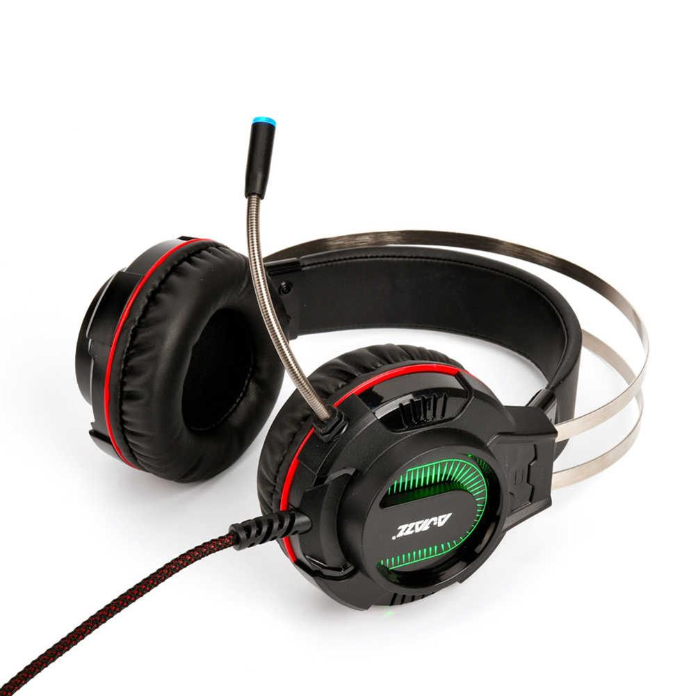 on-ear-over-ear-headphones Ajazz AX260 Gaming Headset with Mic 3.5mm + USB Interface LED Glowing - Black Ajazz AX260 Gaming Headset with Mic 3 5mm USB Interface LED Glowing Black 3
