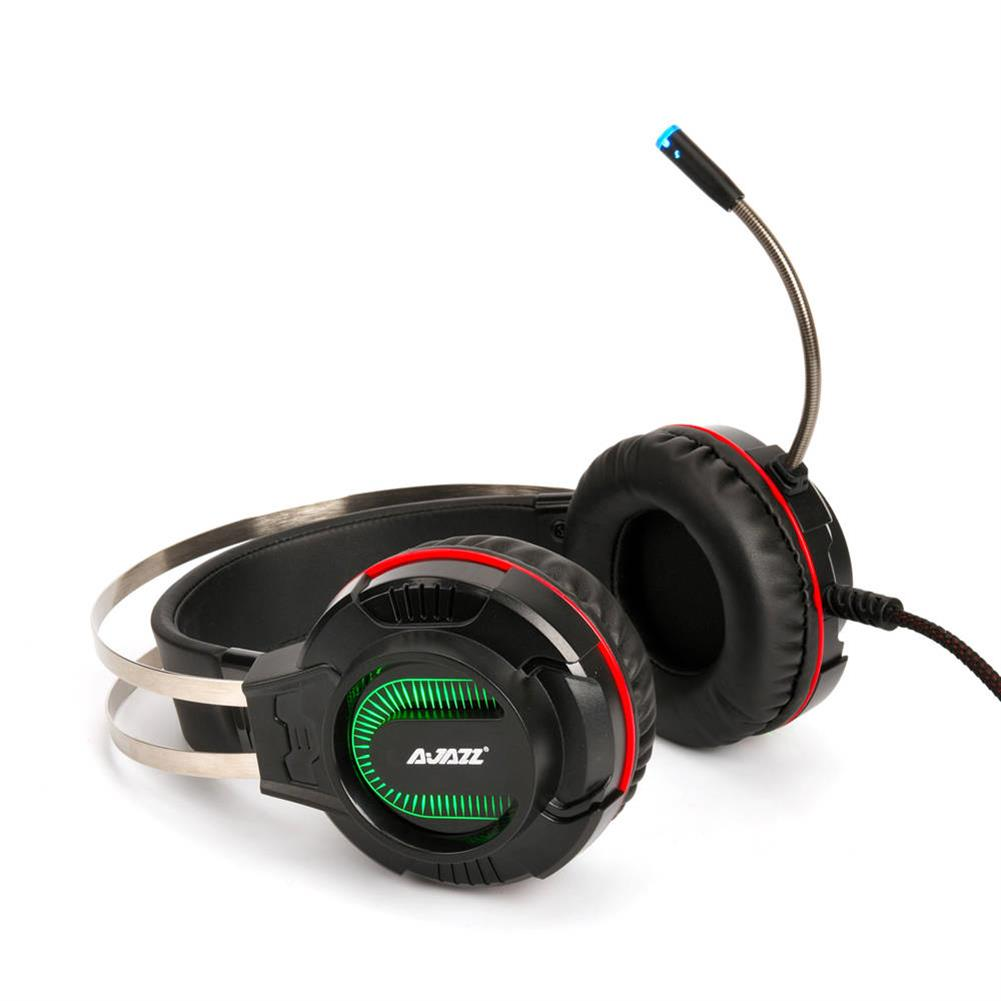 on-ear-over-ear-headphones Ajazz AX260 Gaming Headset with Mic 3.5mm + USB Interface LED Glowing - Black Ajazz AX260 Gaming Headset with Mic 3 5mm USB Interface LED Glowing Black 4