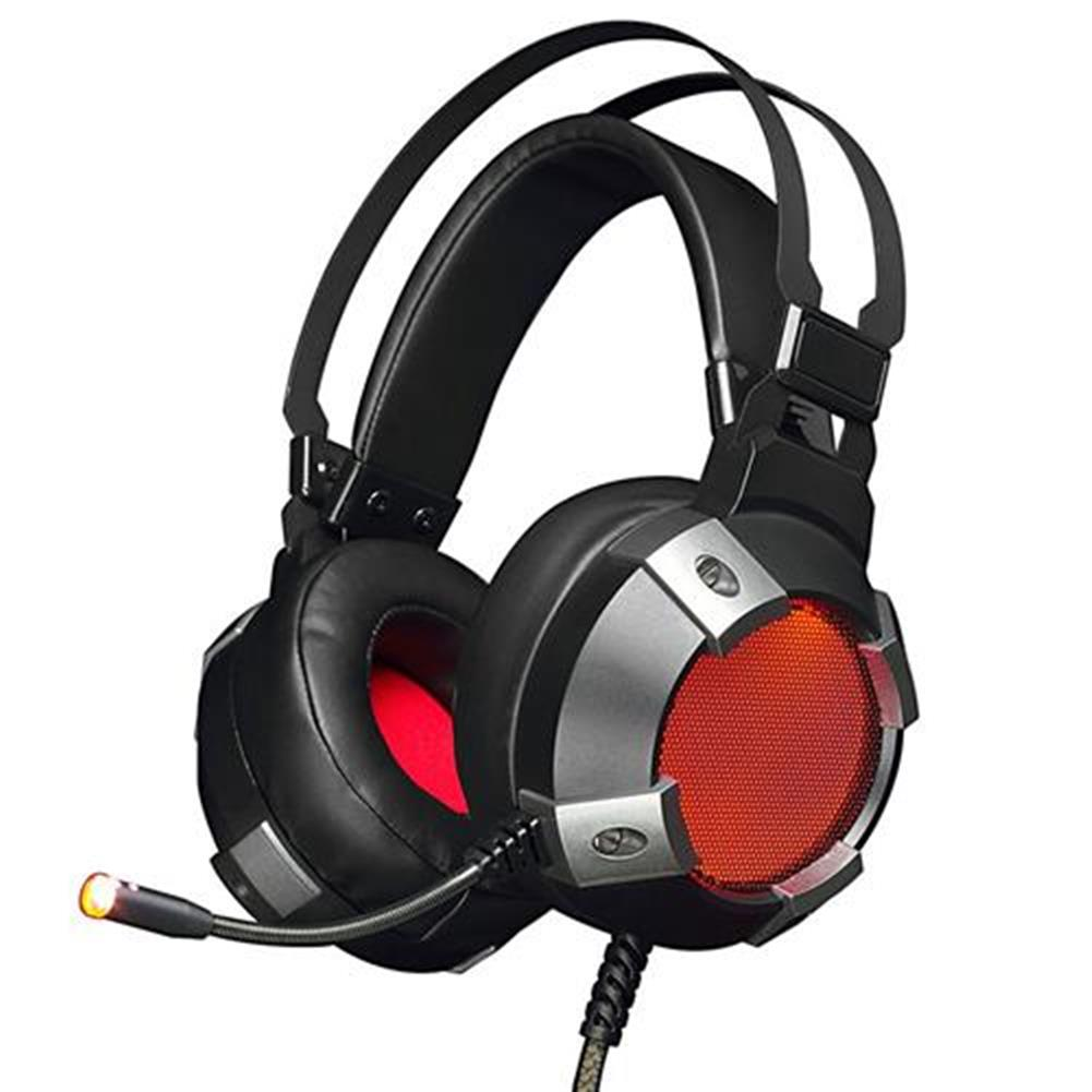 on-ear-over-ear-headphones Ajazz AX361 Over-Ear 7.1 Virtual Sound USB Gaming Headset with Mic RGB Backlight for PC/Laptop - Black Ajazz AX361 Over Ear 7 1 Virtual Sound USB Gaming Headset with Mic RGB Backlight for PC Laptop Black