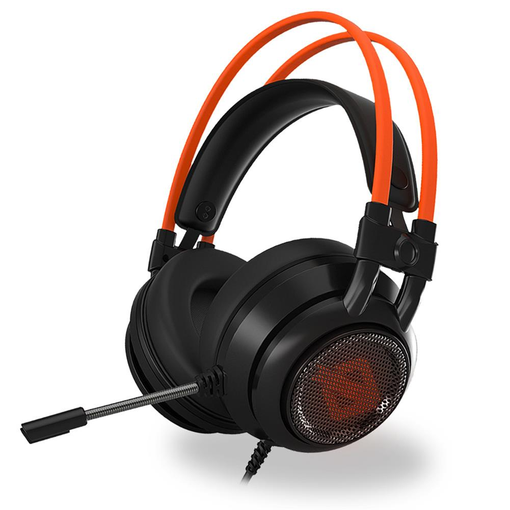 on-ear-over-ear-headphones Ajazz AX391 Gaming Headphones with Mic USB Interface LED Glowing 50mm Drive Unit Headset- Black and Orange Ajazz AX391 Gaming Headphones with Mic USB Interface LED Glowing 50mm Drive Unit Headset Black and Orange