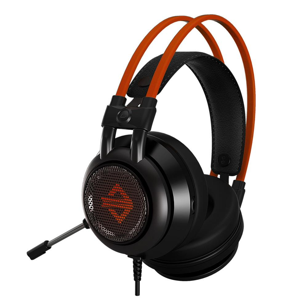 on-ear-over-ear-headphones Ajazz AX391 Gaming Headphones with Mic USB Interface LED Glowing 50mm Drive Unit Headset- Black and Orange Ajazz AX391 Gaming Headphones with Mic USB Interface LED Glowing 50mm Drive Unit Headset Black and Orange 2