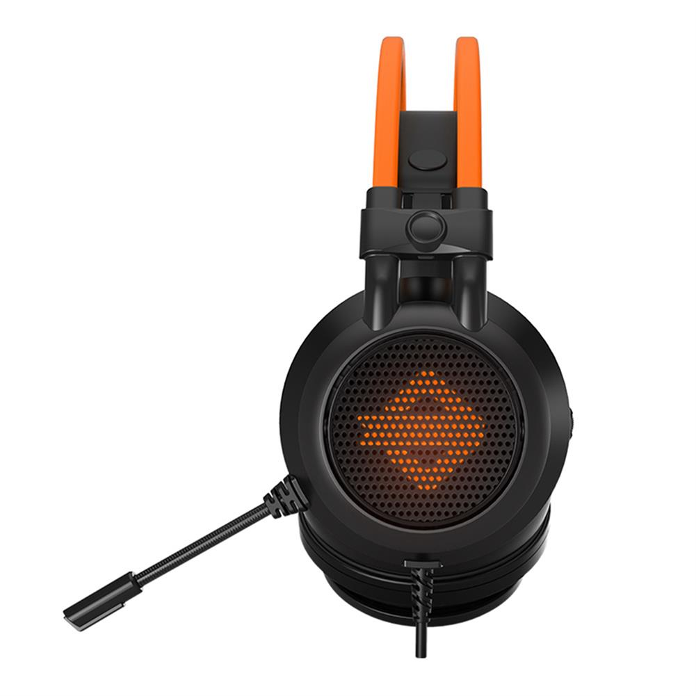 on-ear-over-ear-headphones Ajazz AX391 Gaming Headphones with Mic USB Interface LED Glowing 50mm Drive Unit Headset- Black and Orange Ajazz AX391 Gaming Headphones with Mic USB Interface LED Glowing 50mm Drive Unit Headset Black and Orange 3