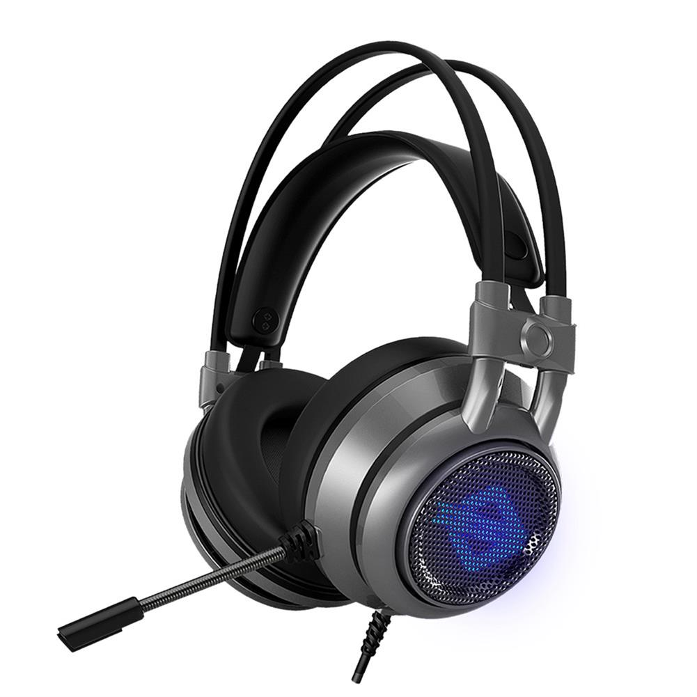 on-ear-over-ear-headphones Ajazz AX391 Gaming Headphones with Mic USB Interface LED Glowing 50mm Drive Unit Headset - Gray Ajazz AX391 Gaming Headphones with Mic USB Interface LED Glowing 50mm Drive Unit Headset Gray