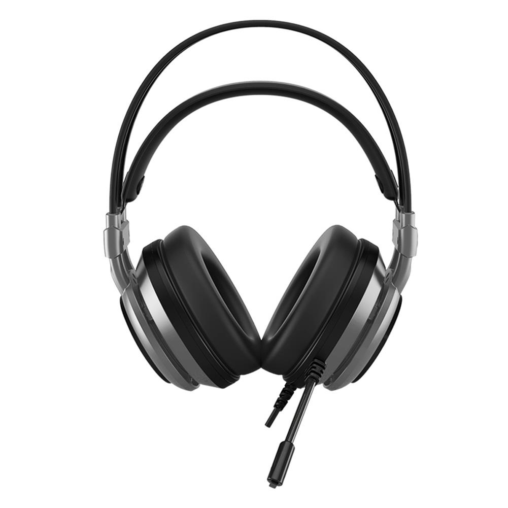 on-ear-over-ear-headphones Ajazz AX391 Gaming Headphones with Mic USB Interface LED Glowing 50mm Drive Unit Headset - Gray Ajazz AX391 Gaming Headphones with Mic USB Interface LED Glowing 50mm Drive Unit Headset Gray 2