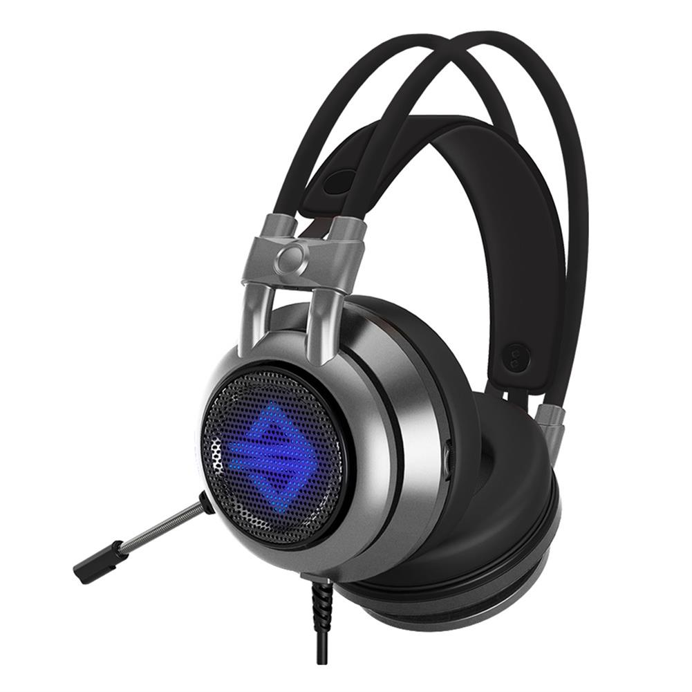 on-ear-over-ear-headphones Ajazz AX391 Gaming Headphones with Mic USB Interface LED Glowing 50mm Drive Unit Headset - Gray Ajazz AX391 Gaming Headphones with Mic USB Interface LED Glowing 50mm Drive Unit Headset Gray 3