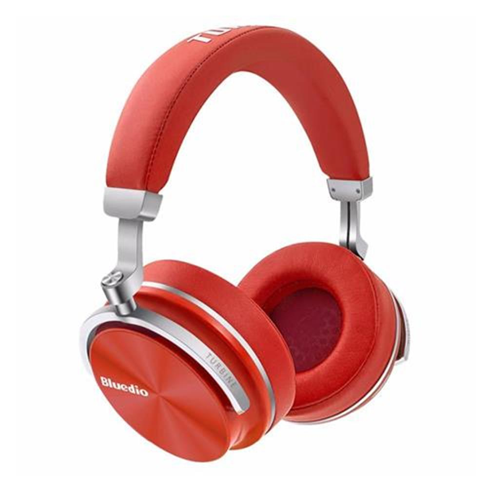 on-ear-over-ear-headphones-Bluedio T4S Wireless Bluetooth Headphones with Mic Active Noise Cancelling - Red-Bluedio T4S Wireless Bluetooth Headphones with Mic Active Noise Cancelling Red