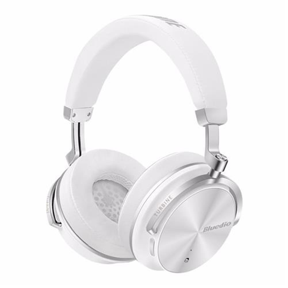 on-ear-over-ear-headphones Bluedio T4S Wireless Bluetooth Headphones with Mic Active Noise Cancelling - White Bluedio T4S Wireless Bluetooth Headphones with Mic Active Noise Cancelling White