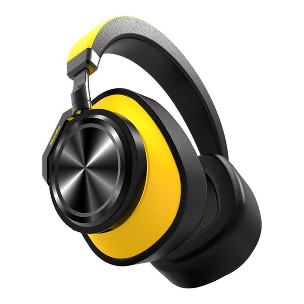 on-ear-over-ear-headphones-Bluedio T6 Headphones Wireless Bluetooth Headset with Mic Active Noise Cancelling - Black and Yellow-Bluedio T6 Headphones Wireless Bluetooth Headset with Mic Active Noise Cancelling Black and Yellow