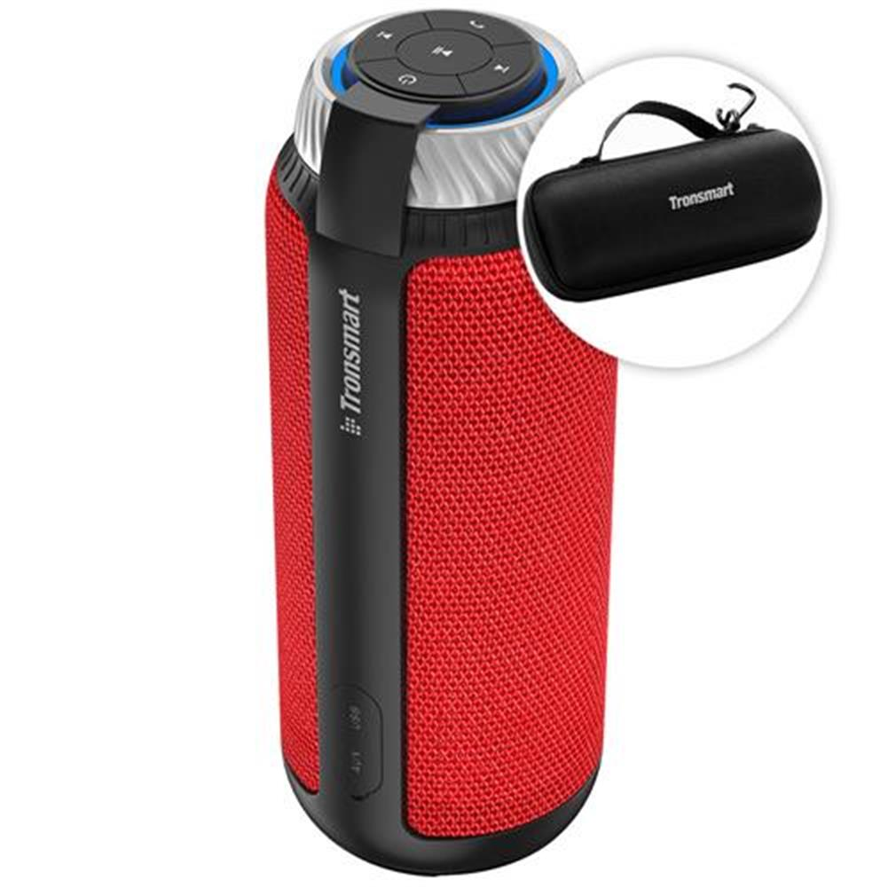 bluetooth-speakers-Bundle Tronsmart Element T6 25W Portable Bluetooth Speaker with 360 Degree Stereo Sound and Built-in Microphone Red + Tronsmart Element T6 Carrying Case-Bundle Tronsmart Element T6 25W Portable Bluetooth Speaker with 360 Degree Stereo Sound and Built in Microphone Red Tronsmart Element T6 Carrying Case