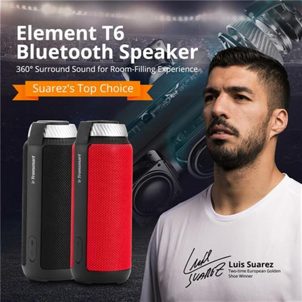 bluetooth-speakers Bundle Tronsmart Element T6 25W Portable Bluetooth Speaker with 360 Degree Stereo Sound and Built-in Microphone Red + Tronsmart Element T6 Carrying Case Bundle Tronsmart Element T6 25W Portable Bluetooth Speaker with 360 Degree Stereo Sound and Built in Microphone Red Tronsmart Element T6 Carrying Case 1