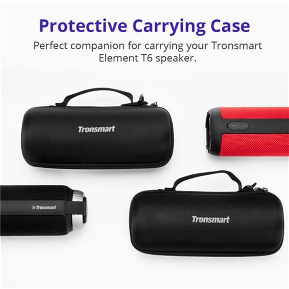 bluetooth-speakers Carrying Case for Tronsmart Element T6 Bluetooth Speaker - Black Carrying Case for Tronsmart Element T6 Bluetooth Speaker Black 1