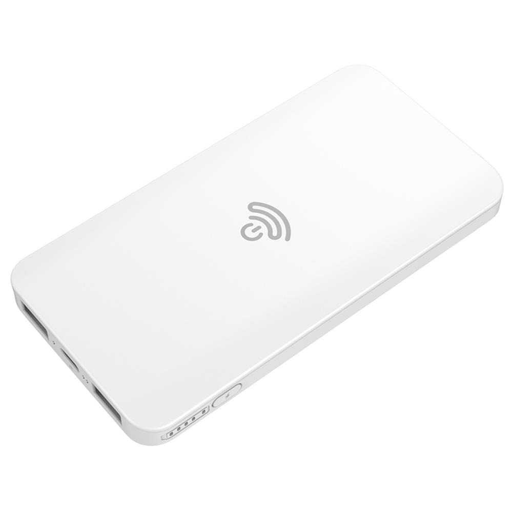 power-bank-HAMTOD HS1 2 in 1 Wireless Charge + Mobile Power Bank 5000 mAh - White-HAMTOD HS1 2 in 1 Wireless Charge Mobile Power Bank 5000 mAh White