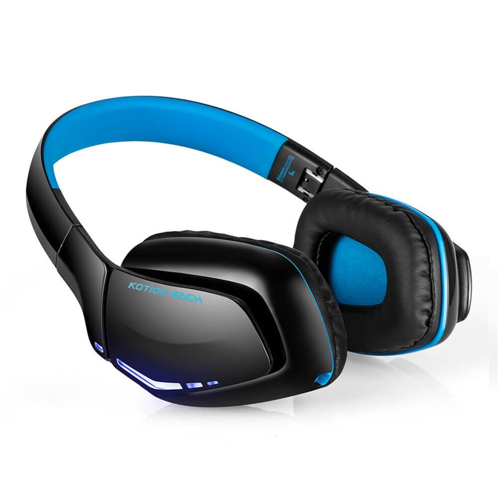 on-ear-over-ear-headphones KOTION EACH B3506 Foldable Bluetooth 4.1 Gaming Headsets - Black+Blue KOTION EACH B3506 Foldable Bluetooth 4 1 Gaming Headsets Black Blue 1