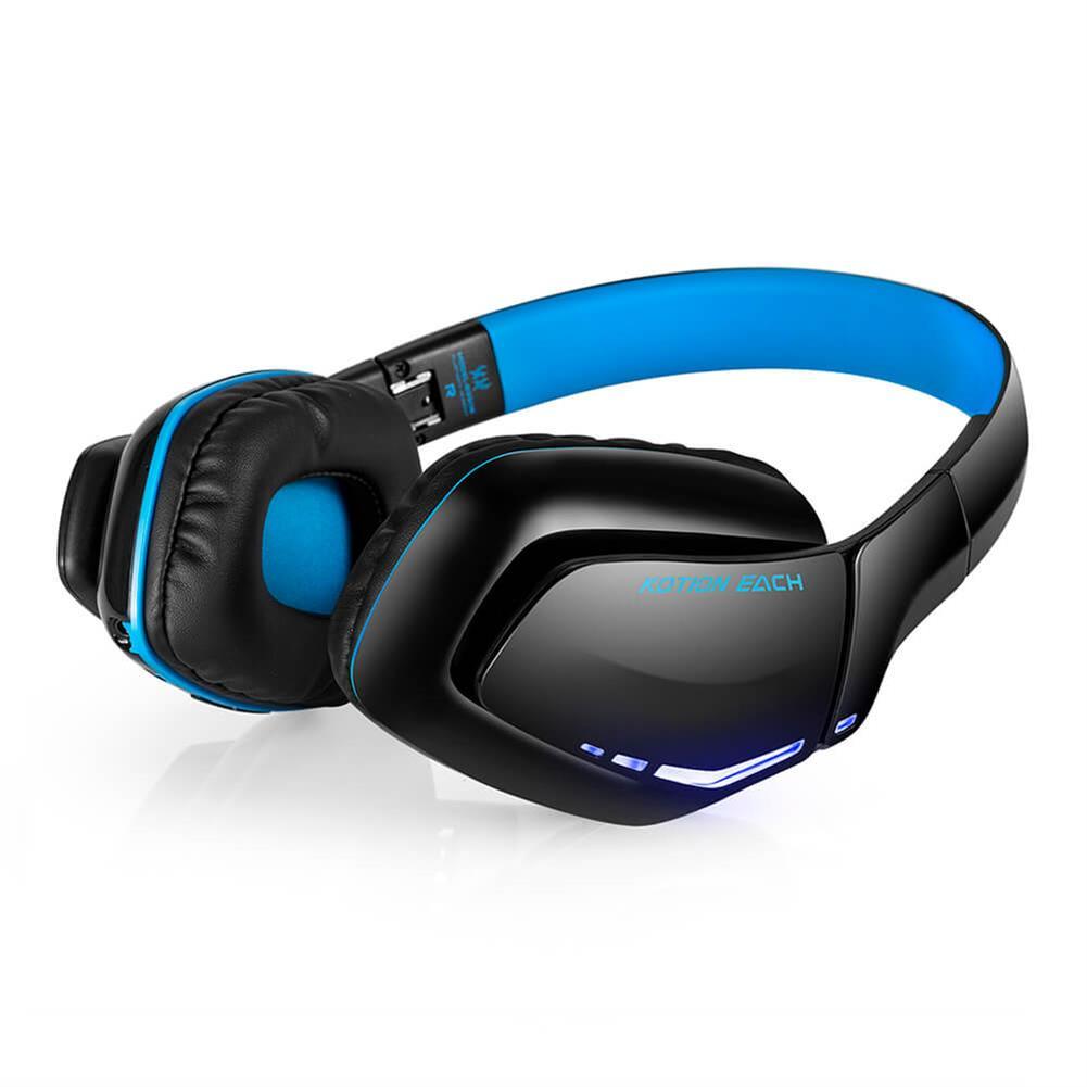 on-ear-over-ear-headphones KOTION EACH B3506 Foldable Bluetooth 4.1 Gaming Headsets - Black+Blue KOTION EACH B3506 Foldable Bluetooth 4 1 Gaming Headsets Black Blue 2