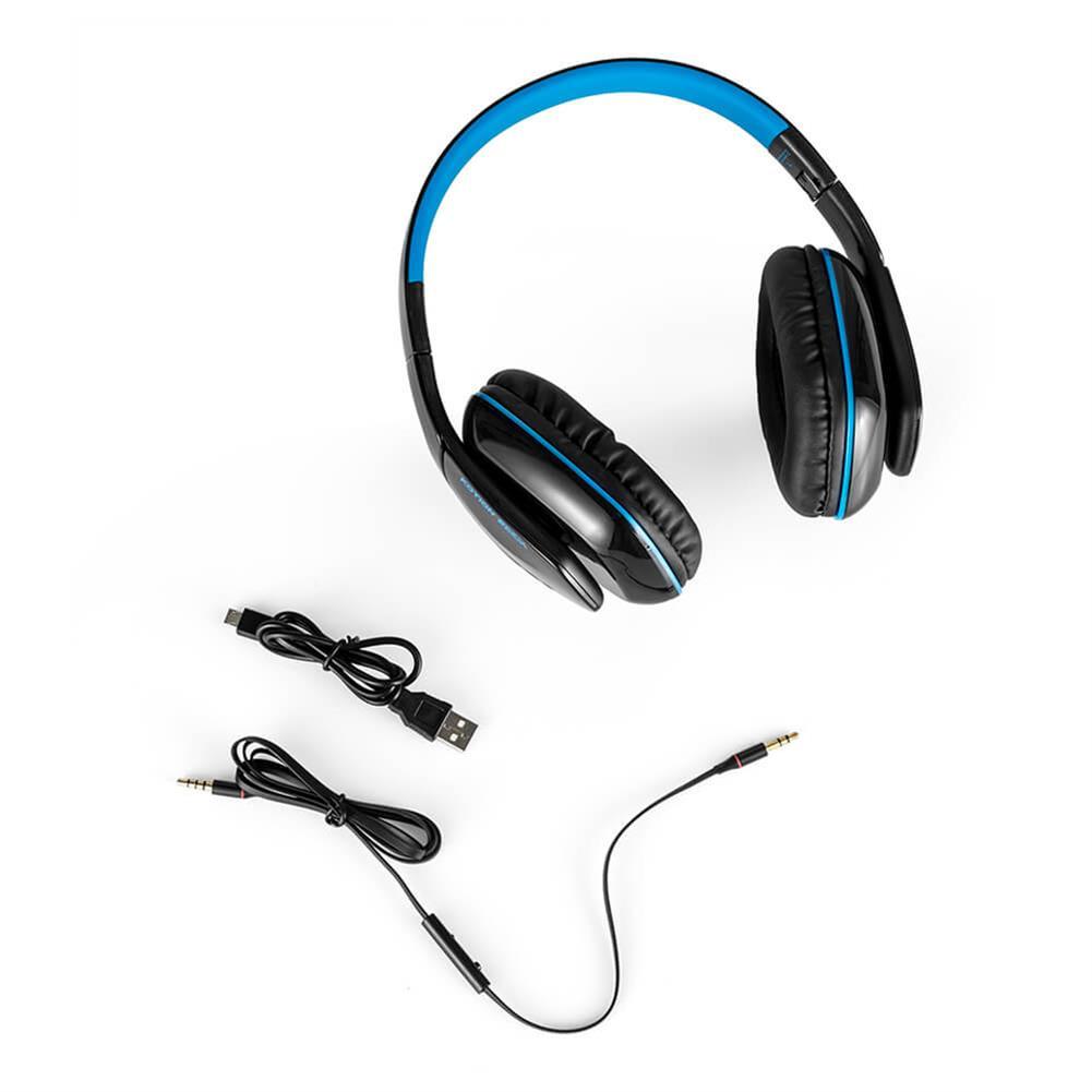 on-ear-over-ear-headphones KOTION EACH B3506 Foldable Bluetooth 4.1 Gaming Headsets - Black+Blue KOTION EACH B3506 Foldable Bluetooth 4 1 Gaming Headsets Black Blue 5