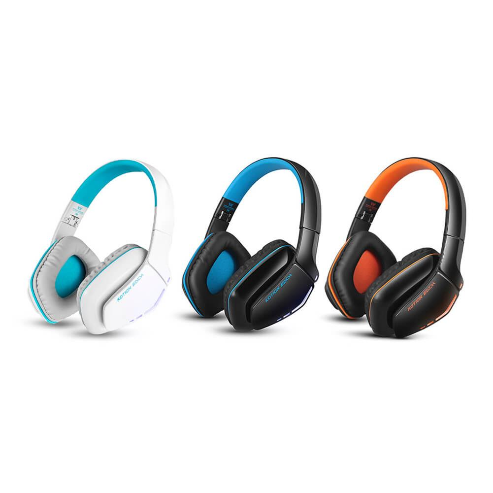 on-ear-over-ear-headphones KOTION EACH B3506 Foldable Bluetooth 4.1 Gaming Headsets - Black+Blue KOTION EACH B3506 Foldable Bluetooth 4 1 Gaming Headsets Black Blue 7