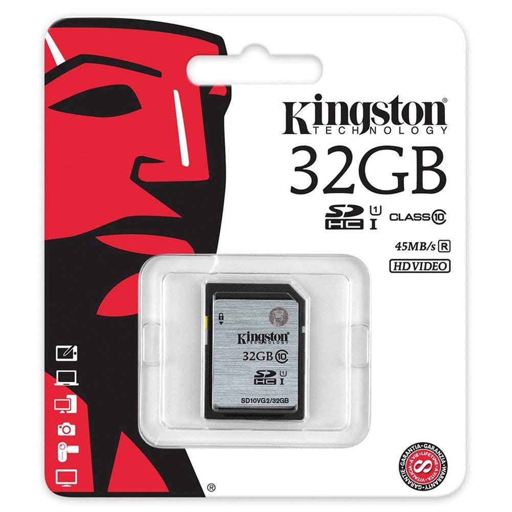 sd-card Kingston 32GB Memory Card Class 10 SDXC Card SD10VG2 Suport HD Video  - Black Kingston 32GB Memory Card Class 10 SDXC Card SD10VG2 Suport HD Video Black 1