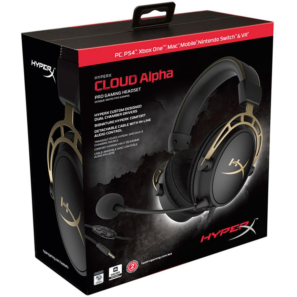 on-ear-over-ear-headphones Kingston HyperX Cloud Alpha Gaming Headset Dual Chamber Drivers Works with PC/PS4/PS4 PRO/Xbox One/Xbox One S -Gold Kingston HyperX Cloud Alpha Gaming Headset Dual Chamber Drivers Works with PC PS4 PS4 PRO Xbox One Xbox One S Gold 5