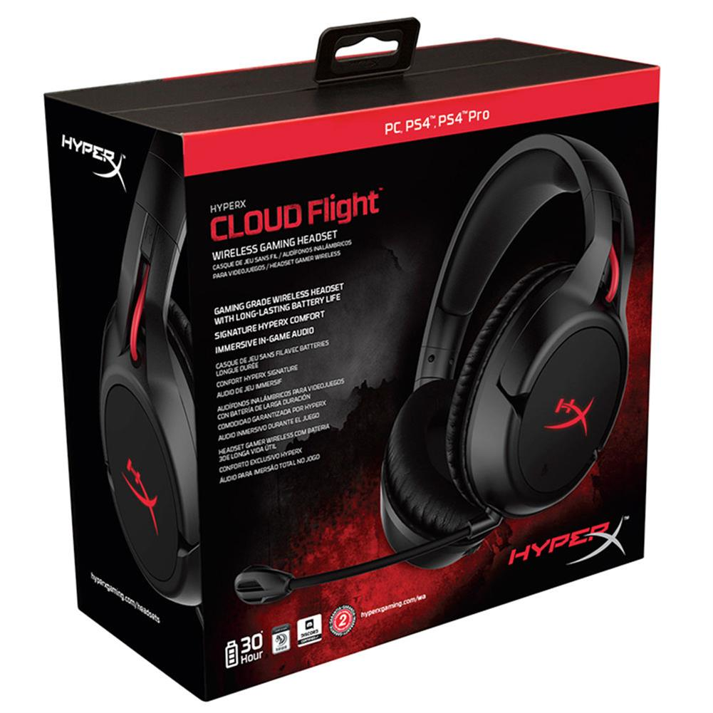 on-ear-over-ear-headphones Kingston HyperX Cloud Flight Wireless Gaming Headset Audio and Mic Controls Works with PC/PS4 (HX-HSCF-BK/AM) -Black Kingston HyperX Cloud Flight Wireless Gaming Headset Audio and Mic Controls Works with PC PS4 HX HSCF BK AM Black 4
