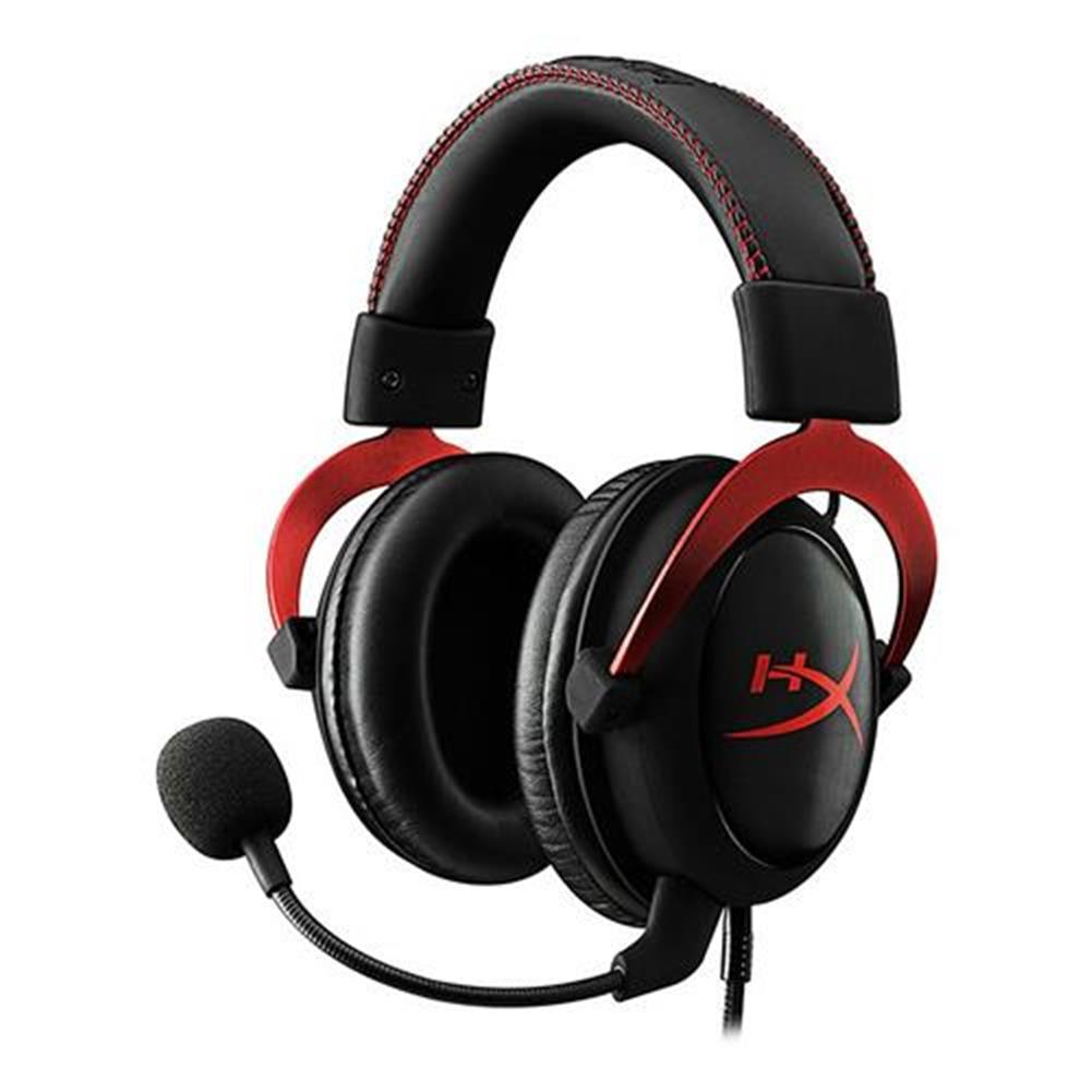 on-ear-over-ear-headphones Kingston HyperX Cloud II Gaming Headset with Mic for PC/PS4/Xbox One/Nintendo Switch - Red Kingston HyperX Cloud II Gaming Headset with Mic for PC PS4 Xbox One Nintendo Switch Red