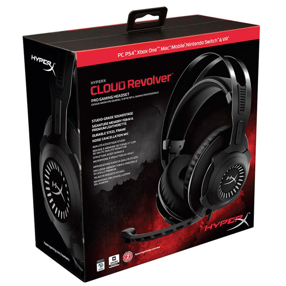 on-ear-over-ear-headphones Kingston HyperX Cloud Revolver Gaming Headset Noise Cancelling 3.5mm Jack - Silver Kingston HyperX Cloud Revolver Gaming Headset Noise Cancelling 3 5mm Jack Silver 6