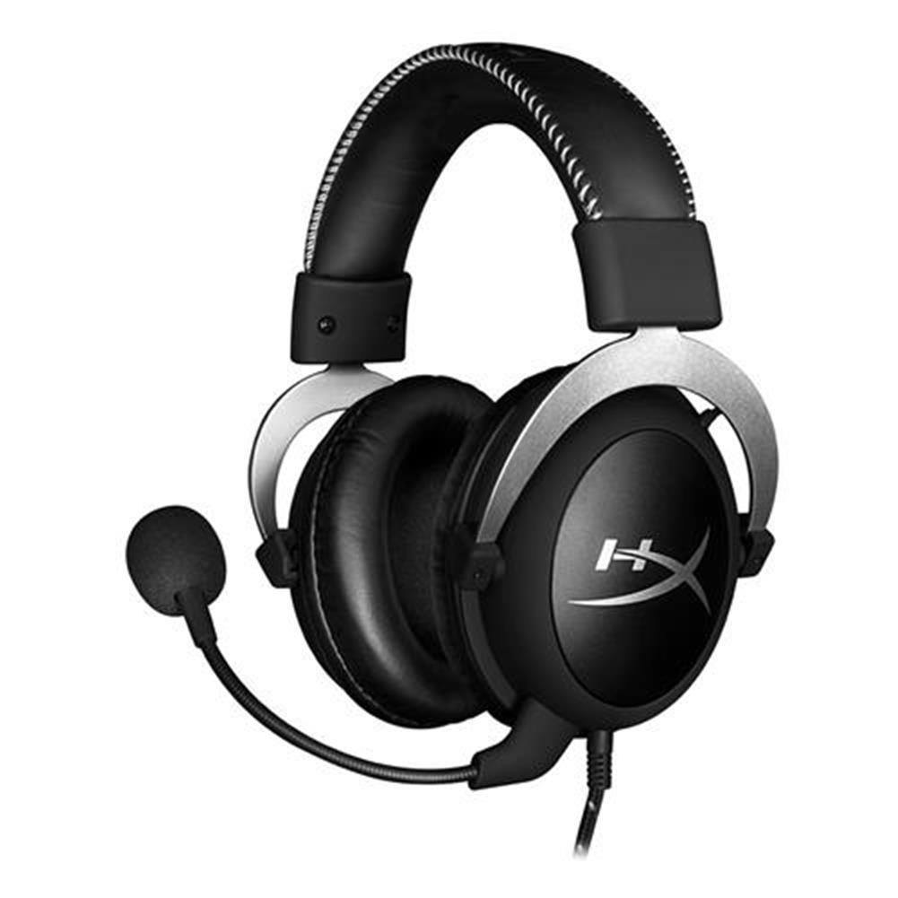 on-ear-over-ear-headphones Kingston HyperX Cloud Silver Gaming Headset with Mic 53 Driver 3.5mm Jack - Black + Gray Kingston HyperX Cloud Silver Gaming Headset with Mic 53 Driver 3 5mm Jack Black Gray