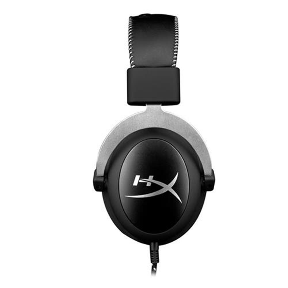 on-ear-over-ear-headphones Kingston HyperX Cloud Silver Gaming Headset with Mic 53 Driver 3.5mm Jack - Black + Gray Kingston HyperX Cloud Silver Gaming Headset with Mic 53 Driver 3 5mm Jack Black Gray 2