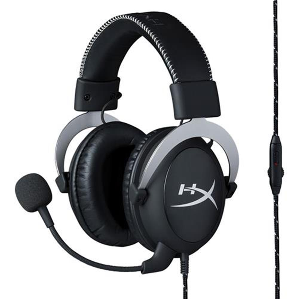 on-ear-over-ear-headphones Kingston HyperX Cloud Silver Gaming Headset with Mic 53 Driver 3.5mm Jack - Black + Gray Kingston HyperX Cloud Silver Gaming Headset with Mic 53 Driver 3 5mm Jack Black Gray 6