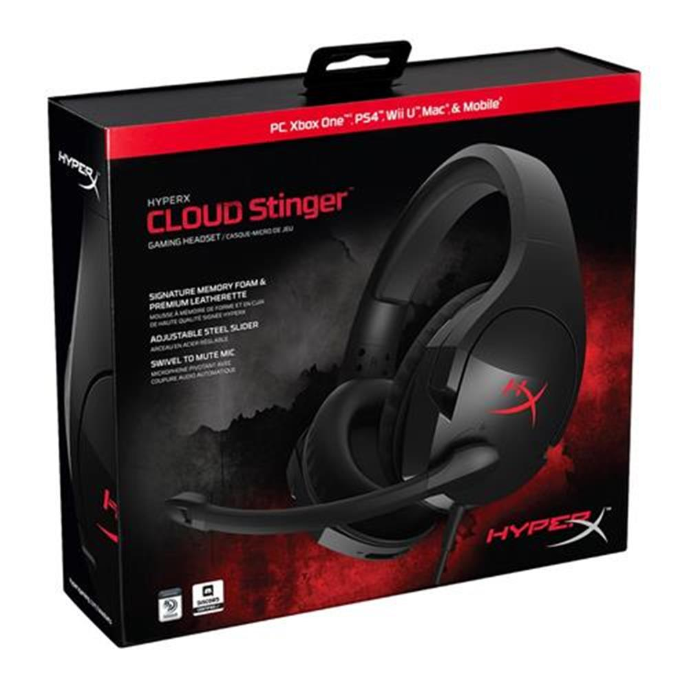 on-ear-over-ear-headphones Kingston HyperX Cloud Stinger PC Gaming Headset with Mic Noise-cancellation - Black Kingston HyperX Cloud Stinger PC Gaming Headset with Mic Noise cancellation Black 6