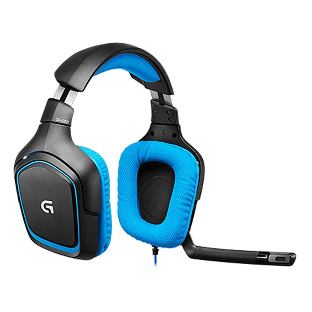 on-ear-over-ear-headphones Logitech G430 Surround Sound Wired Gaming Headphone Folding Noise Canceling Headset - Blue Logitech G430 Surround Sound Wired Gaming Headphone Folding Noise Canceling Headset Blue