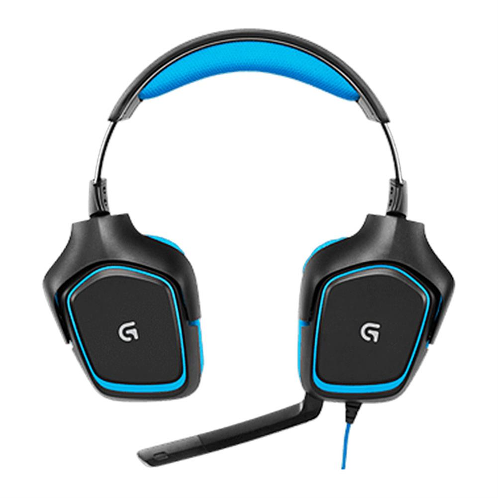 on-ear-over-ear-headphones Logitech G430 Surround Sound Wired Gaming Headphone Folding Noise Canceling Headset - Blue Logitech G430 Surround Sound Wired Gaming Headphone Folding Noise Canceling Headset Blue 2