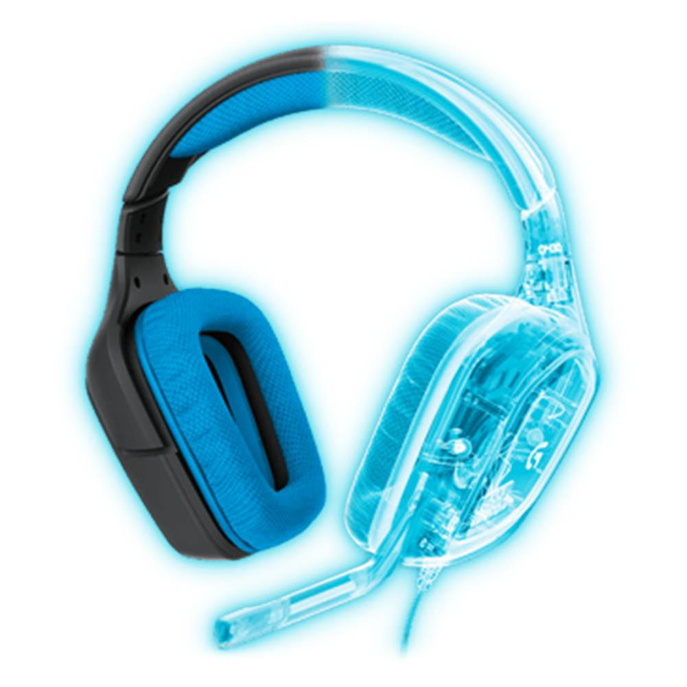 on-ear-over-ear-headphones Logitech G430 Surround Sound Wired Gaming Headphone Folding Noise Canceling Headset - Blue Logitech G430 Surround Sound Wired Gaming Headphone Folding Noise Canceling Headset Blue 3