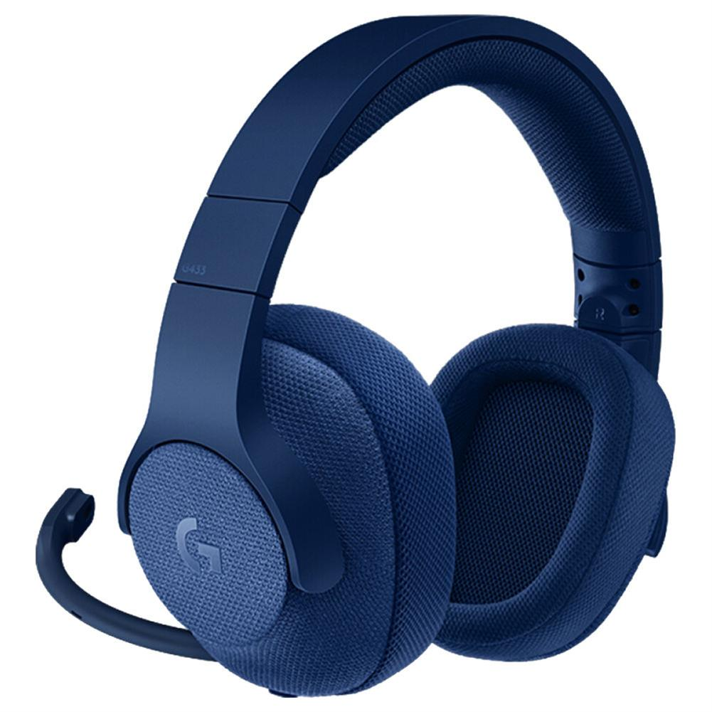 on-ear-over-ear-headphones Logitech G433 Gaming Headset Wired 7.1 Surround Sound Channel - Blue Logitech G433 Gaming Headset Wired 7 1 Surround Sound Channel Blue