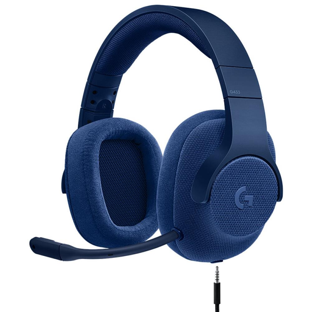 on-ear-over-ear-headphones Logitech G433 Gaming Headset Wired 7.1 Surround Sound Channel - Blue Logitech G433 Gaming Headset Wired 7 1 Surround Sound Channel Blue 1