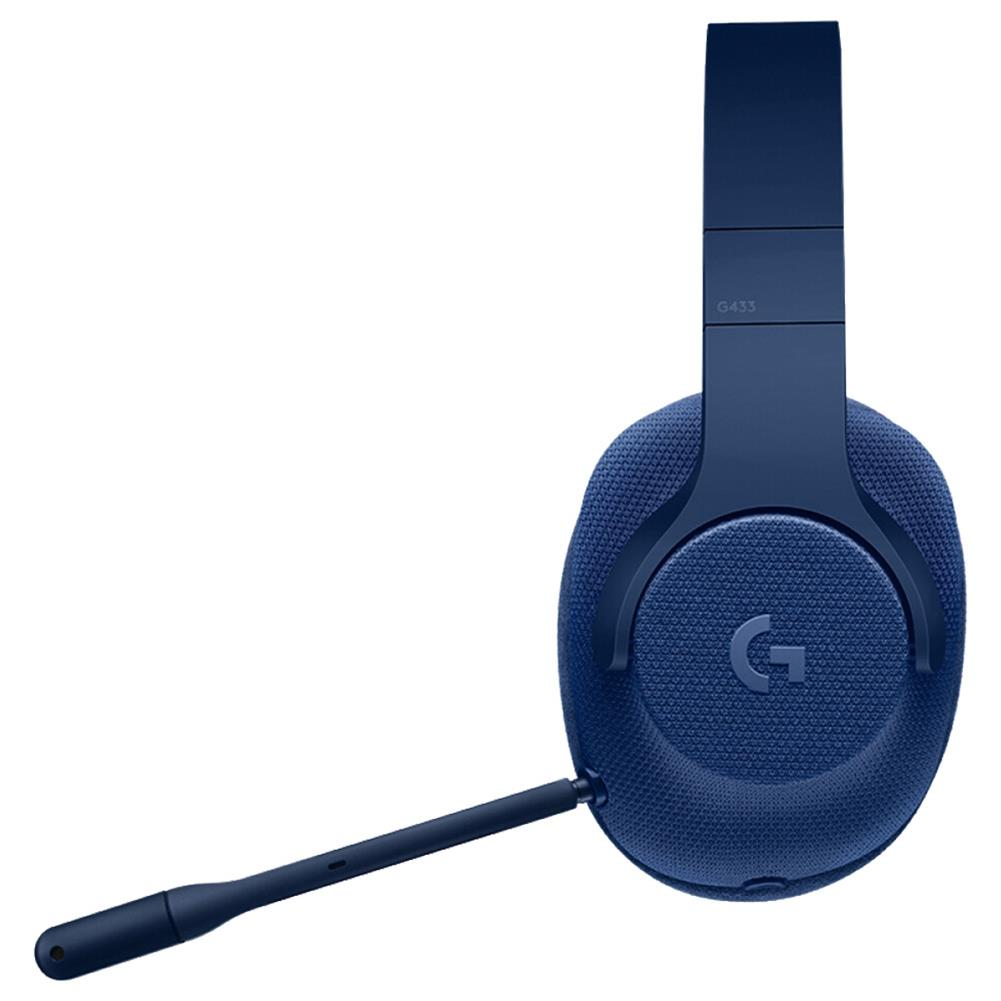 on-ear-over-ear-headphones Logitech G433 Gaming Headset Wired 7.1 Surround Sound Channel - Blue Logitech G433 Gaming Headset Wired 7 1 Surround Sound Channel Blue 4